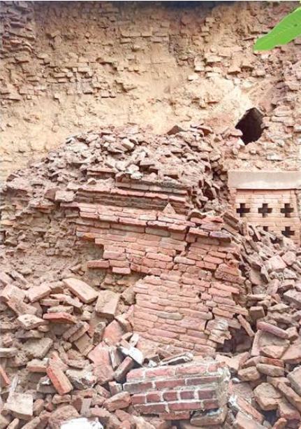 受降雨影响,缅甸蒲甘部分古建筑受损